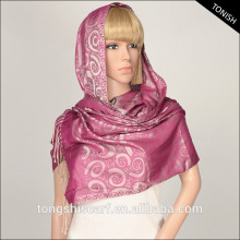 2016 Autumn/Winter shawl hijab and Jacquard pashmina with yarn dyed pattern scarf