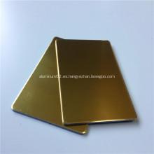 Panel compuesto de aluminio con espejo dorado
