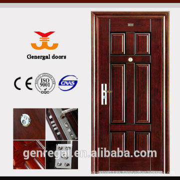 CLASSIC diseño de puertas de seguridad metálicas reforzadas para viviendas