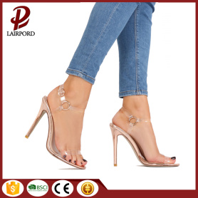 low price 12cm high heel pvc sandals