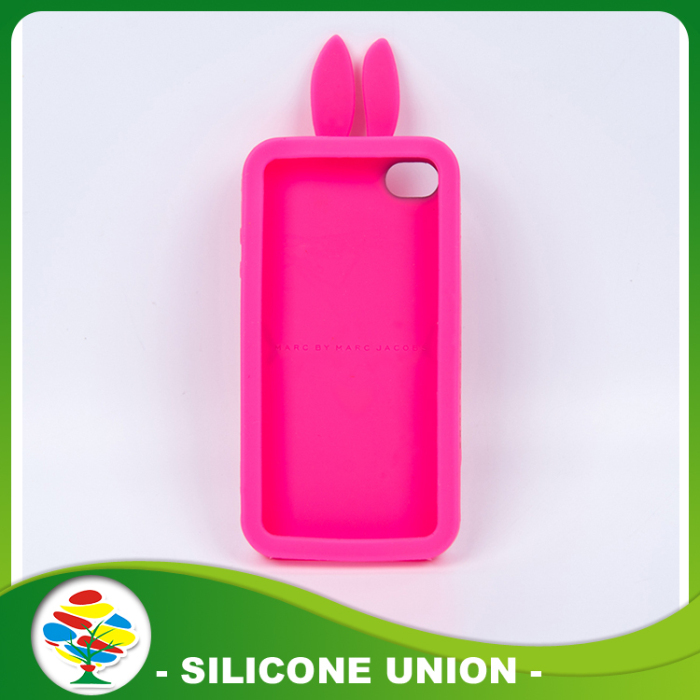 Pink Eco-friendly Silicone Cellphone Case