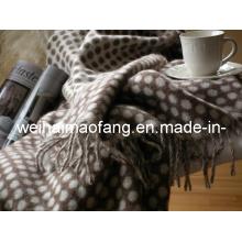 Тканые шерстяные чистой мериносовой шерсти одеяла броска (NMQ-WT047)