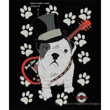 Housse de polyester pour chien en carton doux pour enfants
