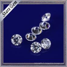 Couleur blanche claire 2.5mm zircon cubique pour les bijoux de mode