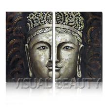 Pintura impresionista de Buda de la India en el arte de la lona