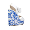newest high wedge sandals with thick platform