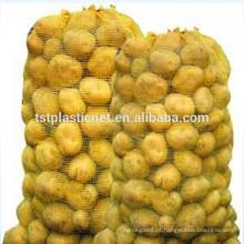 Saco plástico da malha de Raschel da agricultura para cebolas e batatas
