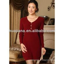 gute Qualität Kaschmir Strickkleid für Frauen