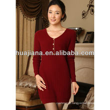 good quality cashmere knitting dress for women