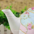 Different Beautiful Flowers Printing Enamel Tea Pot