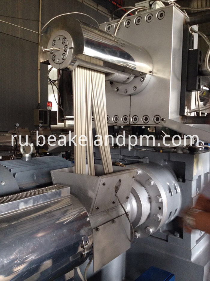 PP regrind flakes granulating machine