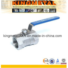 Stainless Steel One Piece Ball Valve Threaded End