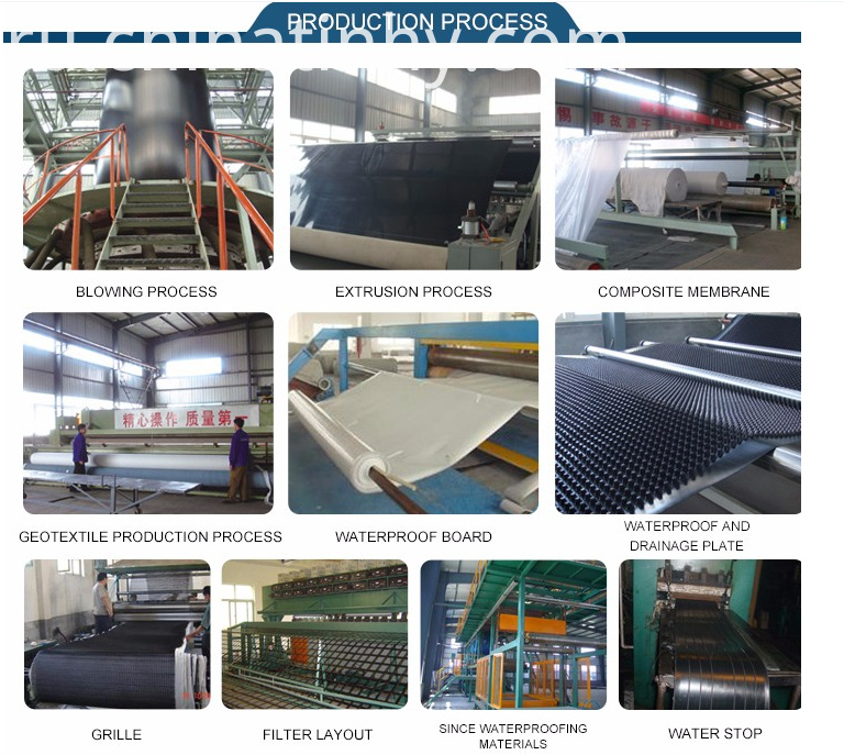 500 Microns Hdpe Geomembranes production process