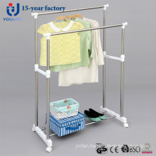 Stainless Steel Double Pole Clothes Hanger