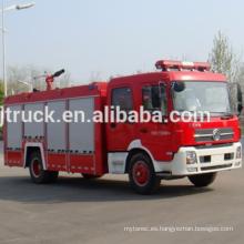 Camión de bomberos del tanque de agua de 4 * 2 RHD Dongfeng / camión de bomberos del agua de la impulsión de la mano derecha de Dongfeng / motor de bomberos de Dongfeng para el metro de 1-5 metros cúbicos