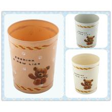Lovely Bear Printing Sala de lixo Bin (FF-5226)