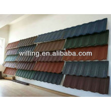 Colorful stone coated aluzinc steel roof tile/ galvanized steel roof tile