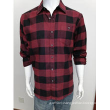 Mens cotton y/d flannel long sleeve shirt
