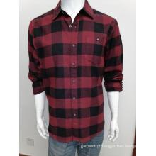 Camisa de manga comprida masculina de algodão y / d de flanela