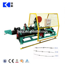 Fully auto double wire reverse twisted barbed wire machine