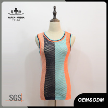 Frauen Preppy Knitted Tanktops