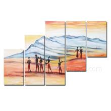 Projeto africano novo figura pintura na lona para a decoração Home (AR-138)