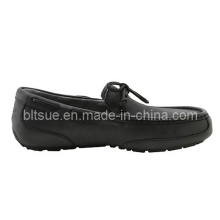 Men Black Leather Boat Shoes for Top Sale