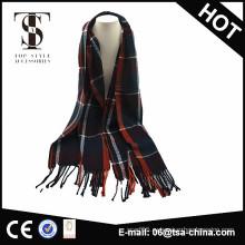 Оптовый шарф кашемира людей tartan сплетенный