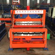 hebei xinnuo duas perfil diferente 840 + 900 dupla folha de metal dá forma à máquina