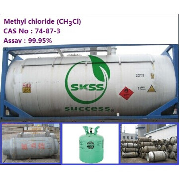 99.9% Methylchloride gas in ISO-Tank