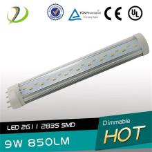 225mm Longueur LED 2G11 Tube 9W UL