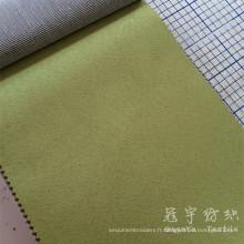 Composé de daim 100% polyester avec support T / C