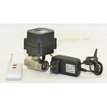 El control sin hilos de la venta caliente apaga la válvula de agua motorizada de la válvula del dispositivo con CE