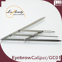 Flexible Stainless Steel Eyebrow Shaping Tool Golden Ratio Divider for permanent makeup