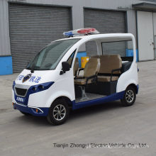 High Quality 4 Person Electric Closed Style Street Laminated Glass Small Police Patrol Car with Ce