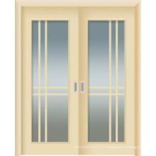 Portes intérieures WPC avec verre et double porte