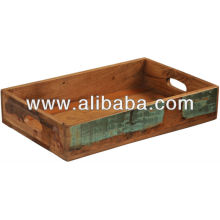 recycle wood serving tray