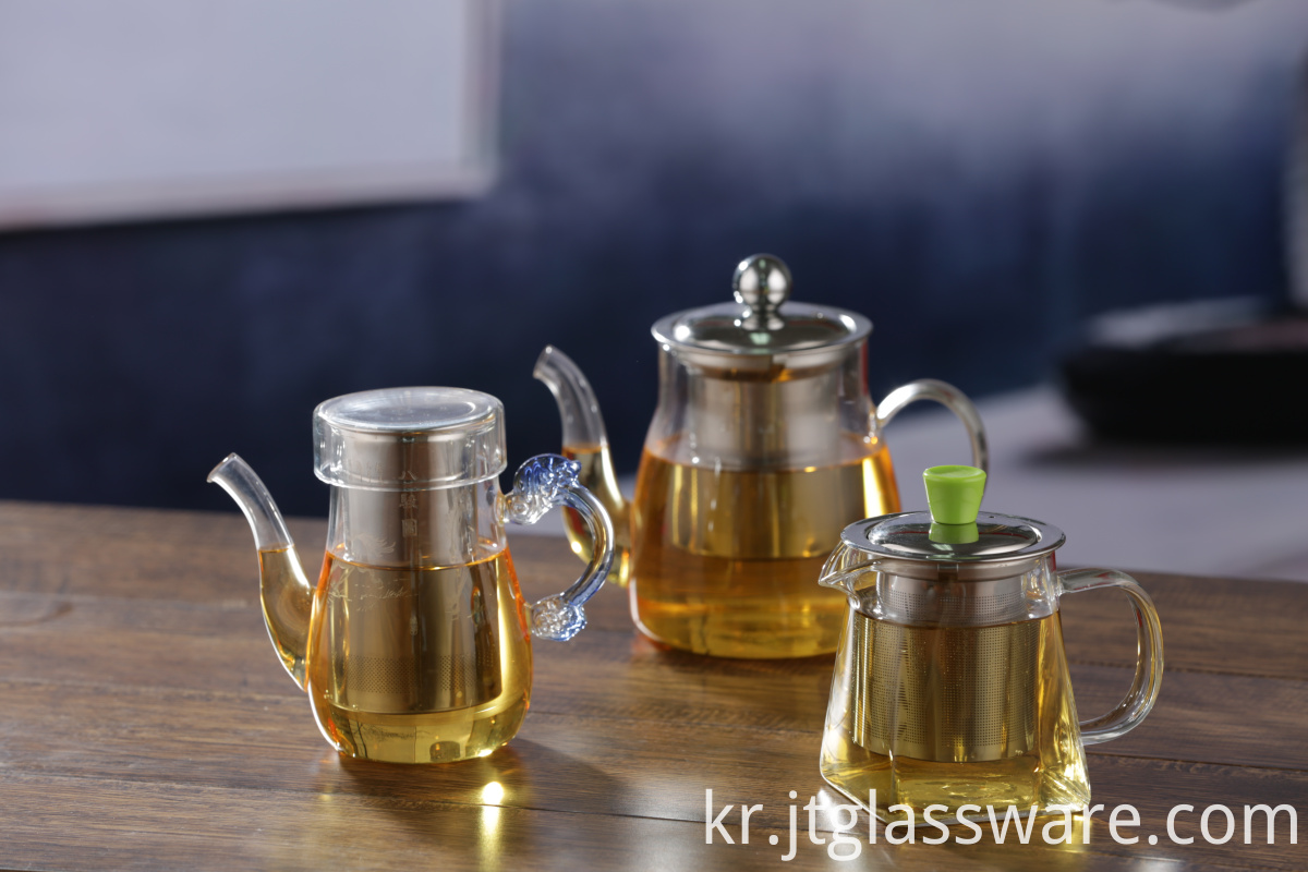 pyrex glass tea pot