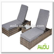 Weave Brown Outdoor Rattan Chaise Liege