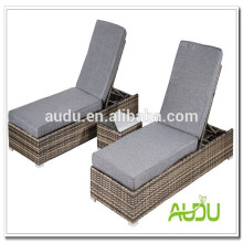 Weave Brown Outdoor Rattan Chaise Lounger