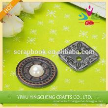 décoration de matériaux métalliques buton fer anti autocollant de moule