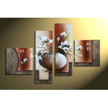 Extracto moderno de la NUEVA 4pc de la venta caliente de la PARED enorme en arte decorativo de la pintura al óleo de la lona