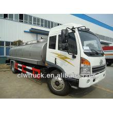 Caminhão de transporte de leite fresco 12t, petroleiro de leite de aço inoxidável