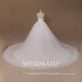 Nouvelle ligne en marbrure en dentelle plus robe de mariée en robe de mariée