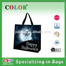 Оптовая круто-устойчивых прокатанные PP сумка Хэллоуин тыква мешок