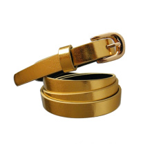 fashion high quality gold sash gliter leather belt girls