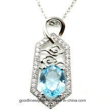 Buena calidad y joyería de la joyería de la CZ del AAA 2015 Colgante al por mayor de la joyería de plata P4978