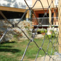 A malha de aço inoxidável da corda de fio decora a malha do jardim zoológico da segurança da rede da corda
