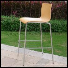 Mobiliario de bar Muebles de madera contrachapada silla alta (SP-BBC215)