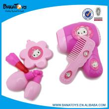 Moda rosa menina beleza brinquedo conjunto